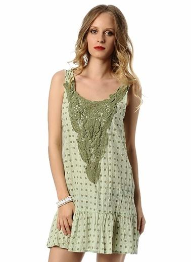 Caramel Elbise Yeşil